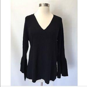 J Crew Peplum-sleeve V-neck sweater - Size S